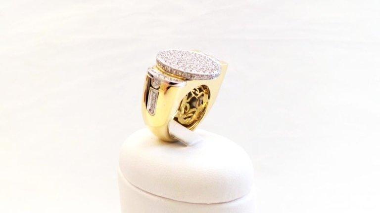 Cattelan - anello in oro giallo e bianco 750 con diamanti - mod. Dubai