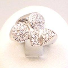 Anello in oro bianco 750 con diamanti - modello Ben's fantasy