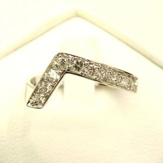 anello in oro bianco 750 con diamanti - modello ra6