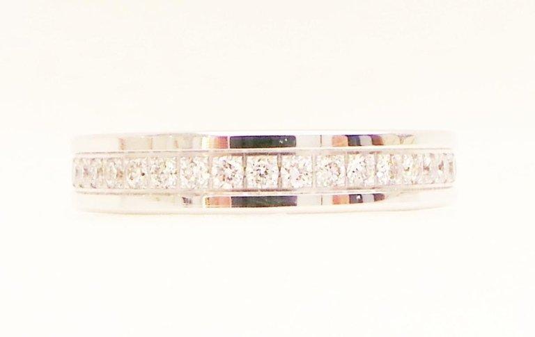 Cattelan - fedina eternity in oro bianco 750 con diamanti