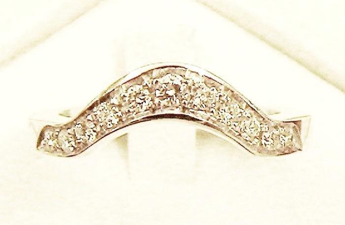 Cattelan - fedina in oro bianco 750 con diamanti - mod.7