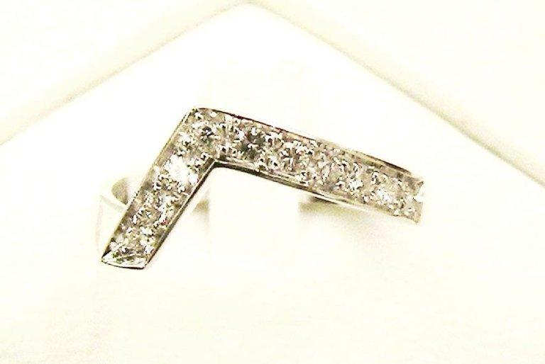 Cattelan - fedina in oro bianco 750 con diamanti - mod. ra6