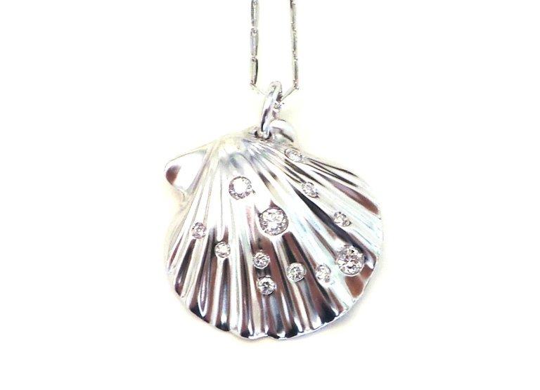 Cattelan Collezione Conchiglie - Pendente in oro bianco 750 e Diamanti