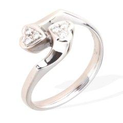 anelli contrariè in oro e diamanti; anelli in oro bianco; anelli con diamanti; anelli fatti a mano; anelli artigianali