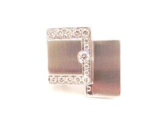 Cattelan - anello in oro bianco 750 e diamanti - mod. Padovaoro