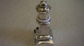 personalizzazione singolo pezzo, scacchiera, alfiere in argento