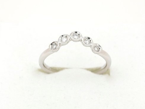Cattelan - fedina in oro bianco e diamanti