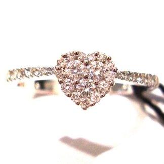 orafi, oreficerie,anello con diamanti,anello a cuore, ring with diamonds,ring in white gold, handycraft jewels