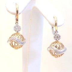 orecchini con chiusura a monachina, orecchini modello sfera