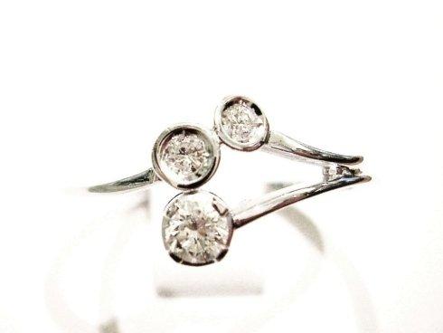 Cattelan - anello con diamanti in oro bianco 750 - modello Cattelan: collezione les petits2