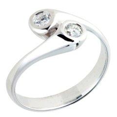 anello contrariè; contrariè in oro e diamanti; anello contrariè in oro bianco e diamanti