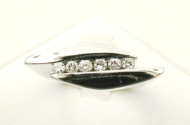 Cattelan - fedina diamanti in oro bianco - mod. aperto