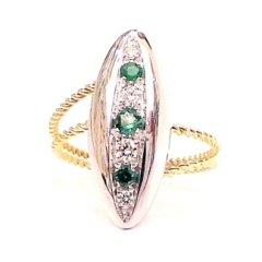 anelli in oro; anelli in oro giallo e bianco;anelli in oro bianco e giallo; anelli con smeraldi; anelli con diamanti