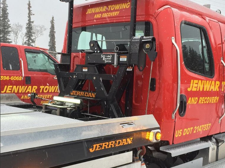 Truck used for towing in Alaska