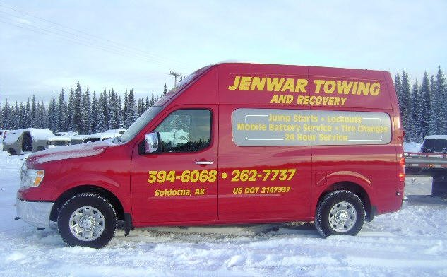 Jenwar Towing and Recovery business vehicle