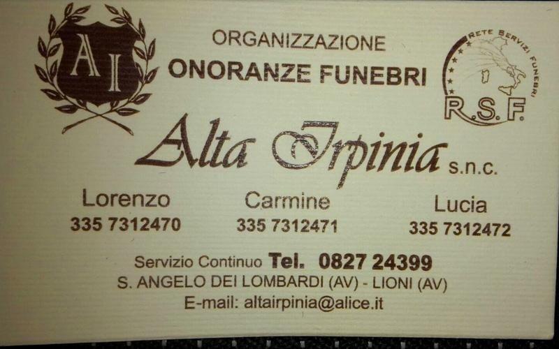 Organizzazione funerali Sant Angelo Dei Lombardi