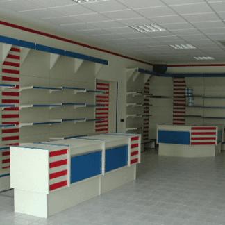 mobili per ufficio, mobili colorificio, allestimento colorificio