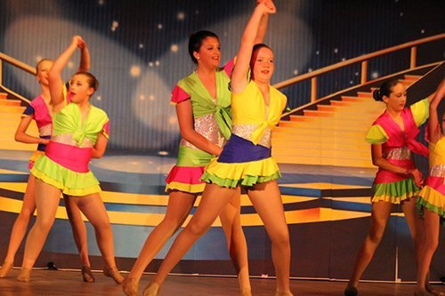 Group of girls performing on stage