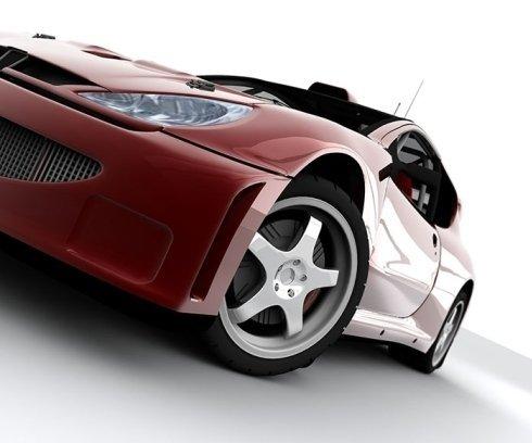 auto da corsa dopo riparazione motore