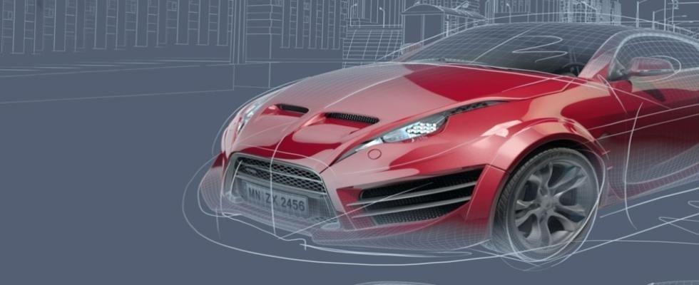 disegno artistico di auto da corsa