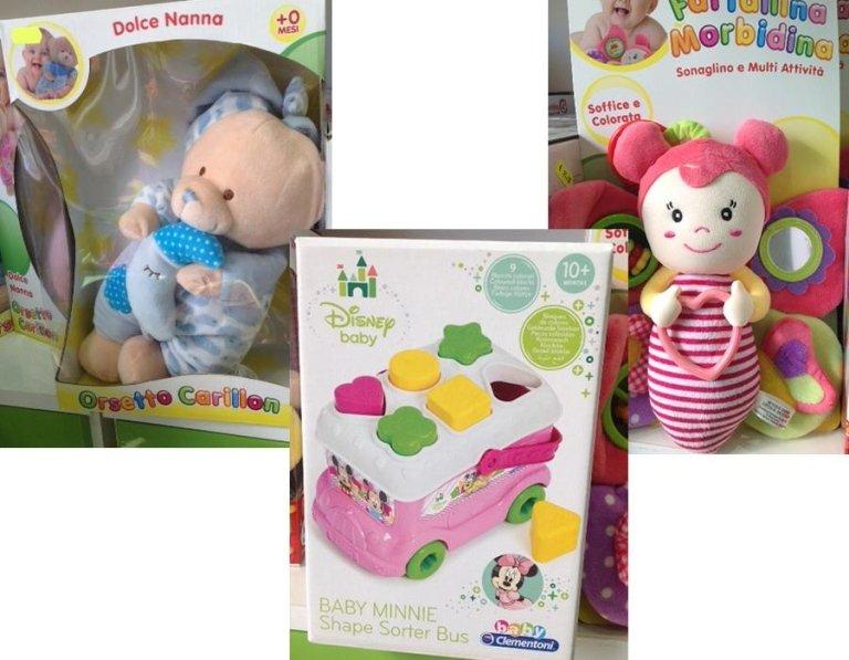 giocattoli per la prima infanzia