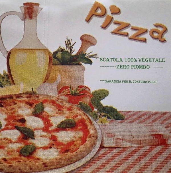 Contenitore pizza di carta vegetale, non riciclata senza piombo . Pizzeria millelire prodotti di qualità, nel rispetto dell