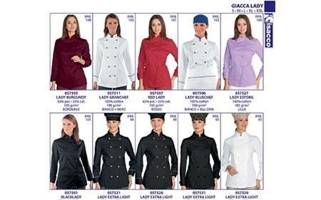 catalogo abbigliamento per personale femminile cucina
