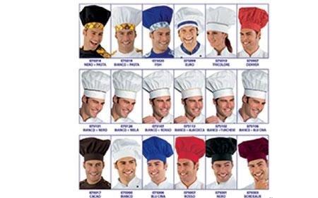catalogo di copricapi professionali da cucina