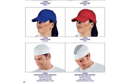 berretti e copricapi professionali