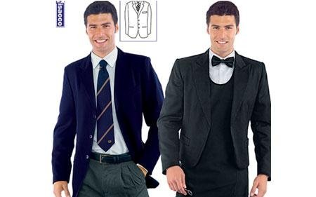 due uomini vestono abbigliamento professionale