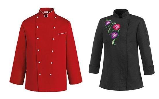 una giacca rossa e una nera