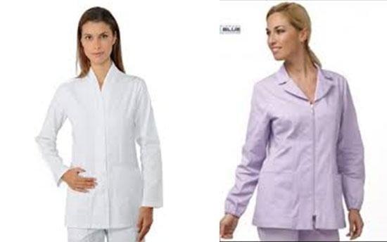 due donne che vestono Grembiuli