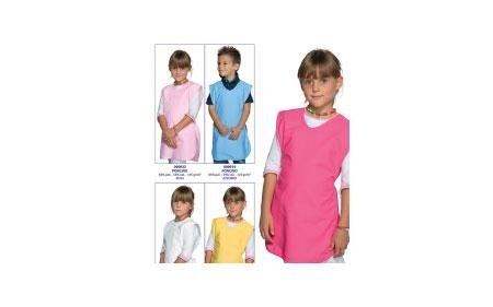 foto di cinque bambini che indossano Grembiuli per la scuola