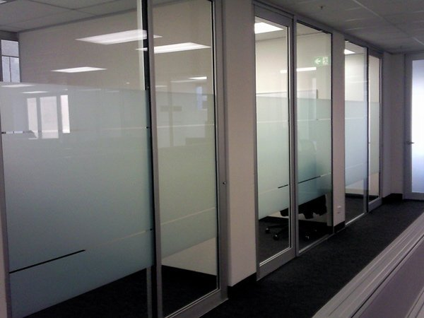 frosted glass in office