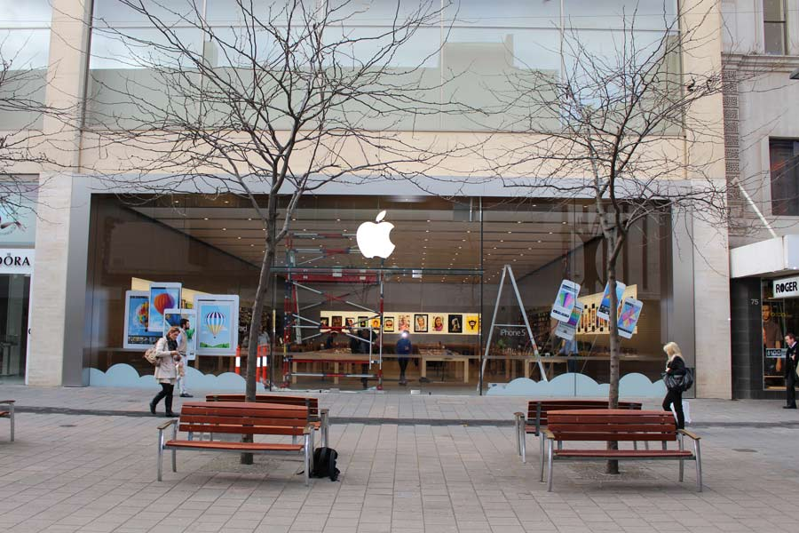 front of apple store