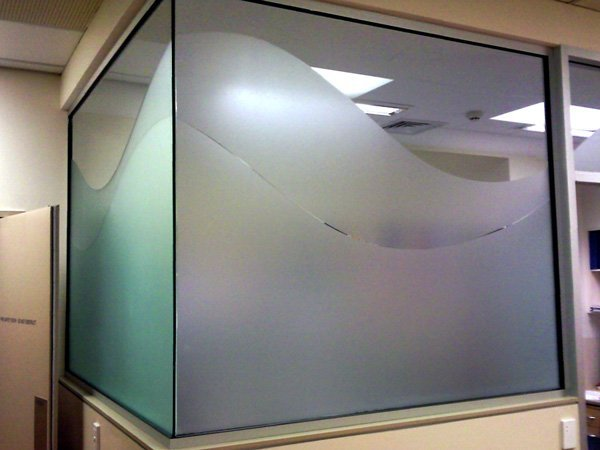 glass design in office