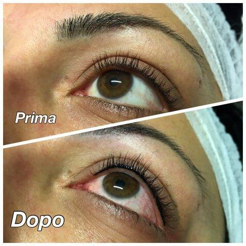eyeliner permanente prima e dopo