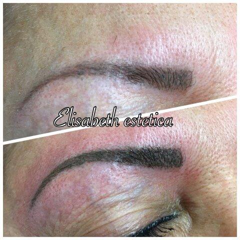 prima e dopo dermo pigmentazione sopracciglia