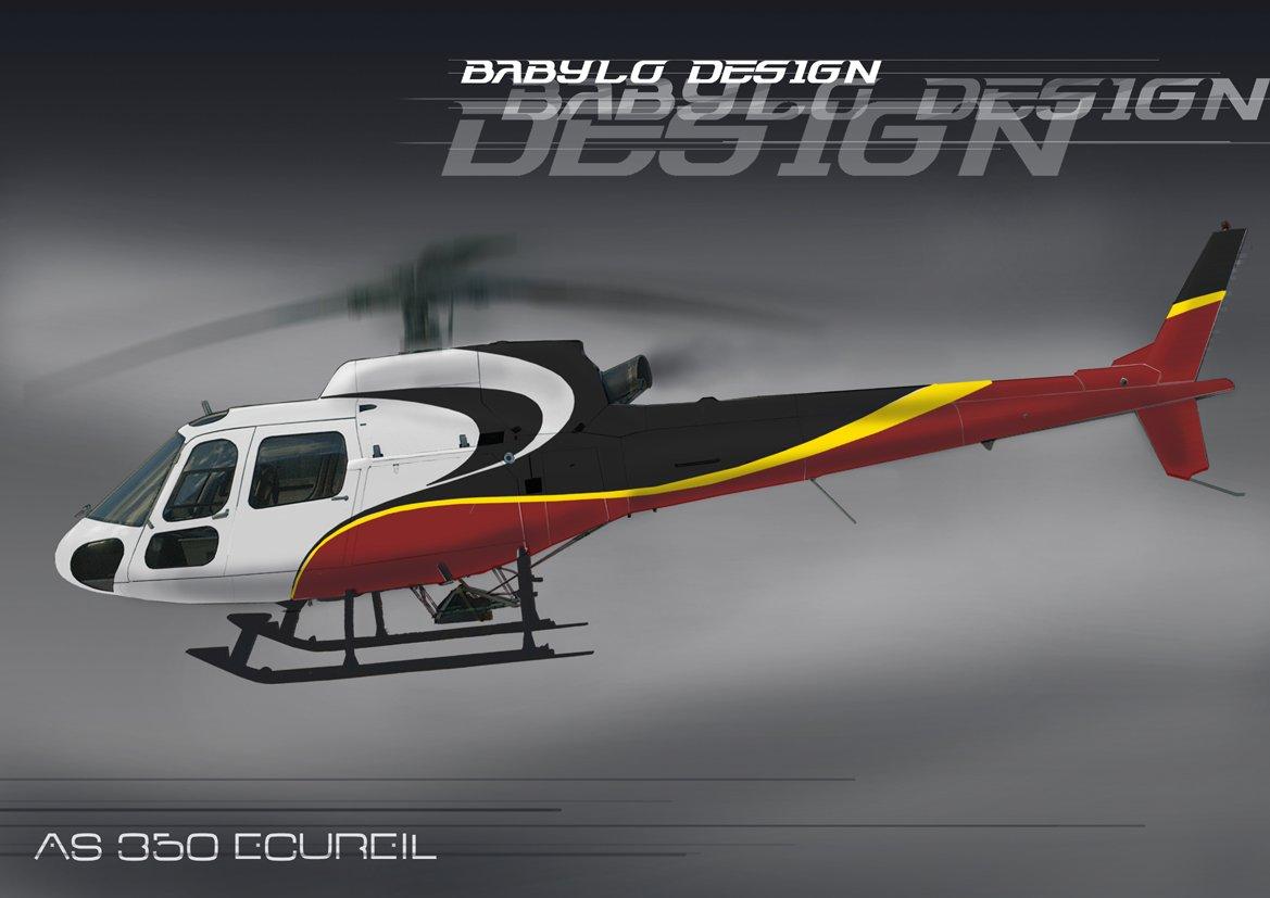 Elicottero 350 : Design caiolo so babylo