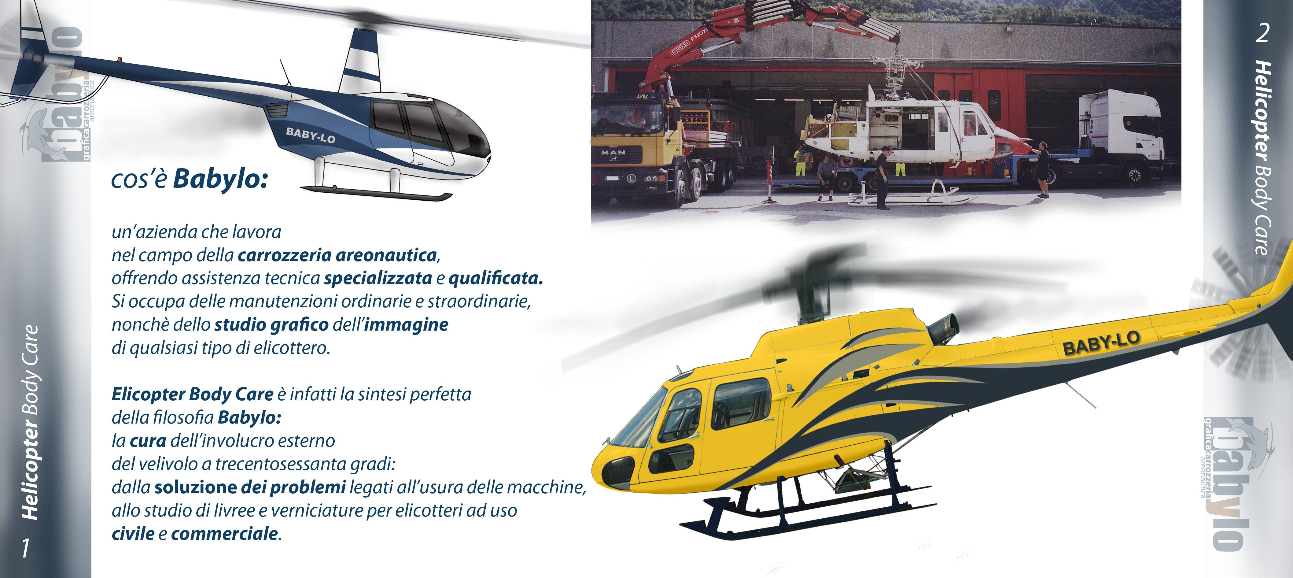 elicotteri giallo e nero
