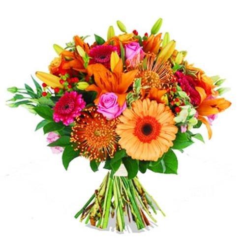 mazo di fiori colorato