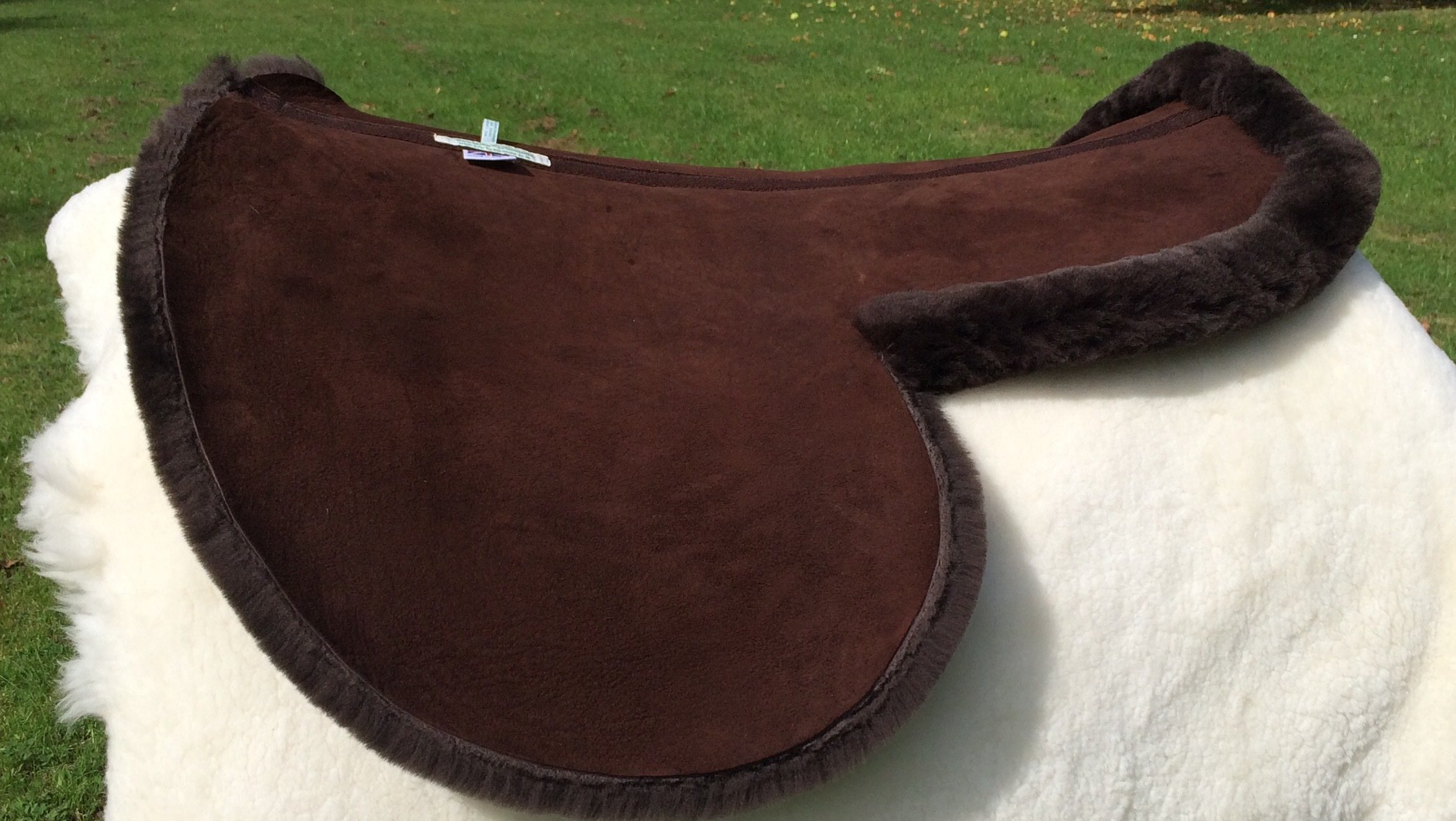 Dark Brown Side Saddle Numnah with Turned Edge around Seat only