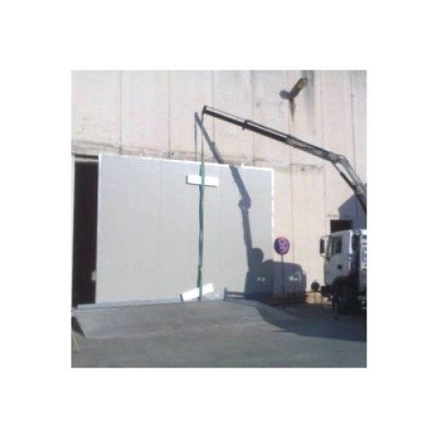 Porte scorrevoli industriali in pannelli coibentati