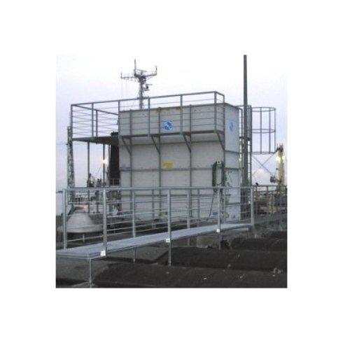 Passerelle e strutture sopraelevate per manutenzione macchinari sopra tetto ditta