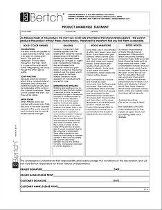 Bertch Product Awareness Form