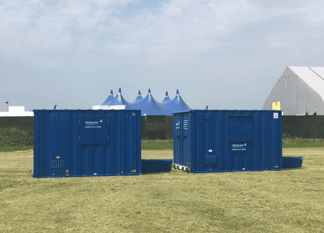 Toilets for the event