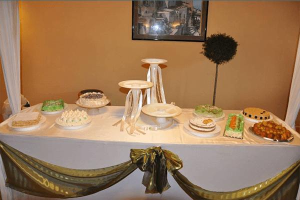 banchetto per brindare