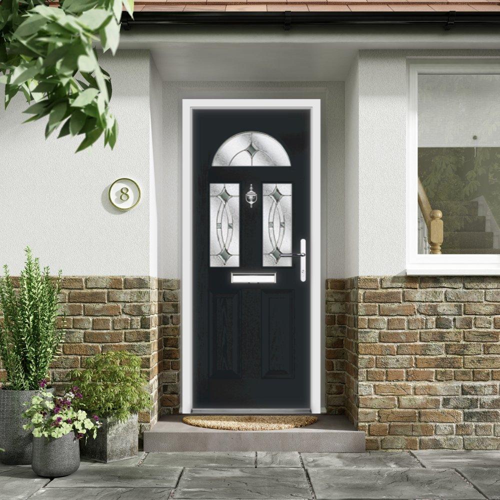 Durable Composite Doors Grassmoor Glass