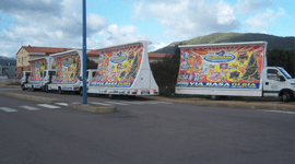 camion vela pubblicita'