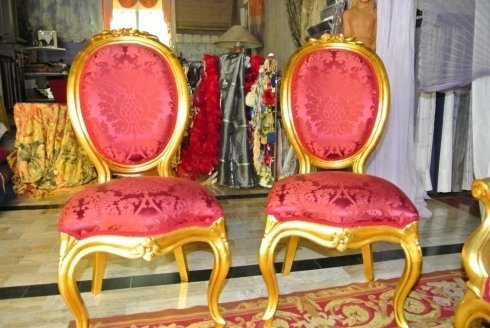 sedie, sedie imbottite, sedie rosse